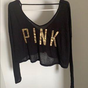 🐶 VS PINK CROPPED LONG SLEEVE SHIRT 🐶